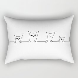 4 Cats on a Line #001 by clodyCats Rectangular Pillow