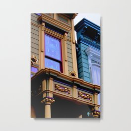 Grand Dame With Old Blue Metal Print