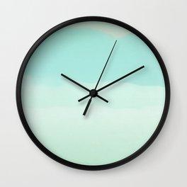 Abstract Painting - Emerald Water Wall Clock