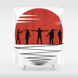 Zombie Controol (Moon headshot) Shower Curtain