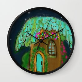 A little cozy cottage Wall Clock