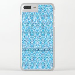 sarasa floral in azure Clear iPhone Case