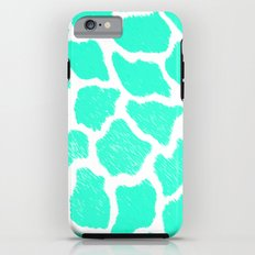 Giraffe Print Pattern Teal Mint Green Ombre Tough Case iPhone 6