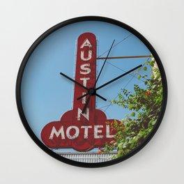 Austin Motel Wall Clock