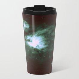 Dark Forest Green Teal Orion Nebula Travel Mug