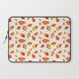 Autumn Nights Leaf and Star Pattern Laptop Sleeve