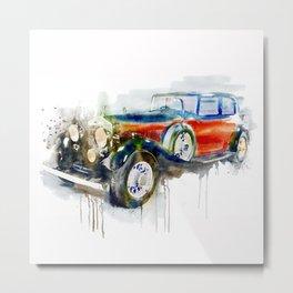 Vintage Automobile Metal Print