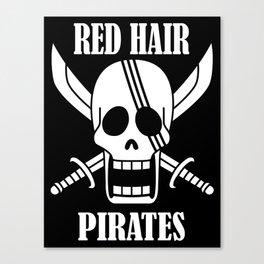 Red hair pirates Canvas Print