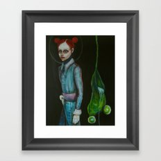 girls and frogs Framed Art Print