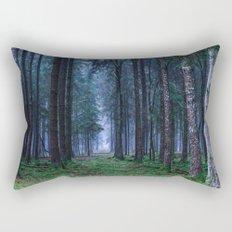 Green Magic Forest Rectangular Pillow