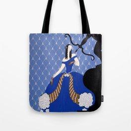 """Art Deco Theater Design """"Violetta"""" Tote Bag"""