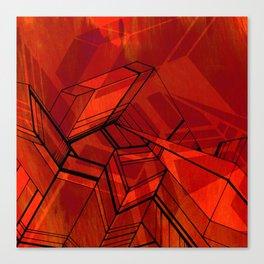 Geo Tactic 2, Orange Canvas Print