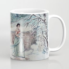 Korean Winter (Watercolor painting) Coffee Mug