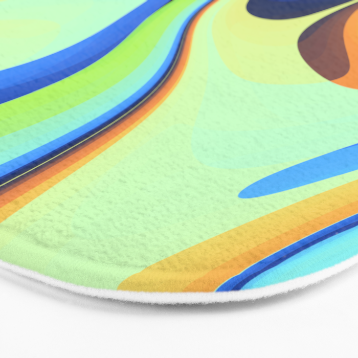Color waves Water and Sun Bath Mat