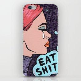 Eat It! Crying Comic Girl iPhone Skin