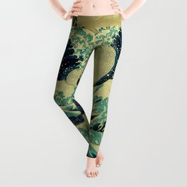 The Great Blue Embrace at Yama Leggings