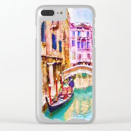 Venice Canal 2 Clear iPhone Case