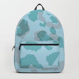 Pale Blue Cheetah Glitch Backpack