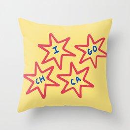 Chicago, Illinois 6-Pointed Stars Throw Pillow