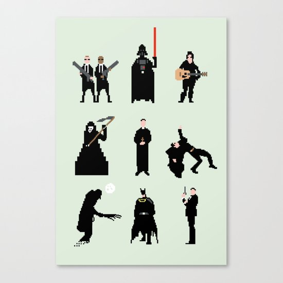 Men in Black Canvas Print