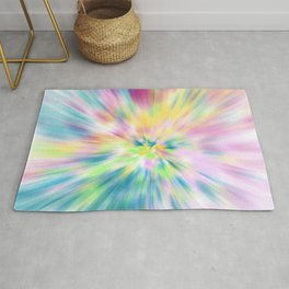Pastel Explosion Tie Dye Abstract Rug