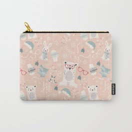 Christmas polar animals pattern 003 Carry-All Pouch