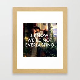 Romeo and Juliet in a World Alone Framed Art Print