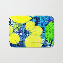 Water Lilies in Spring montage Bath Mat