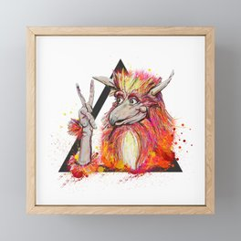 Peace of the Firey Framed Mini Art Print