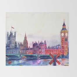 Sunset in London Throw Blanket