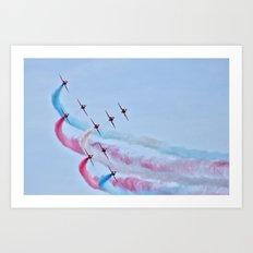 RAF Red Arrows  Art Print