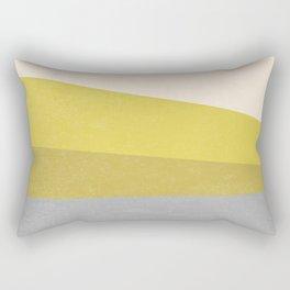 Stripe III: Hold the Mustard Rectangular Pillow
