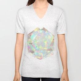 Milky White Opal Unisex V-Neck