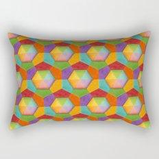 Geometric Rainbow (smaller scale) Rectangular Pillow