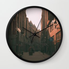Shops in Budapest Wall Clock