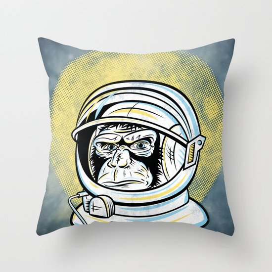 Space Ape Throw Pillow