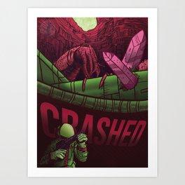 Crashed Art Print