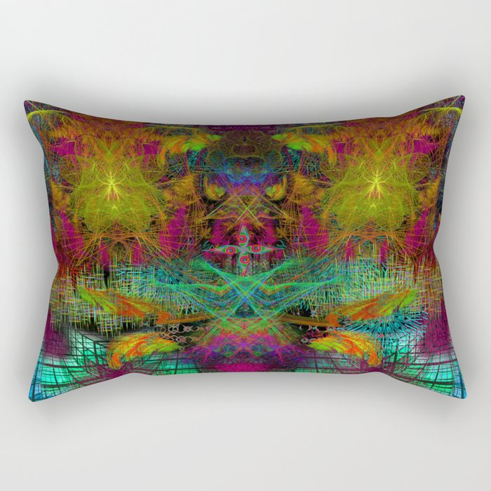 Extraterestrial Palace 5 Rectangular Pillow