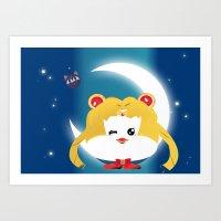 sailormoon Art Prints featuring SailorMoon MeyMey by Raimondo Tafuri