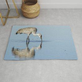 Sandhill Crane and Reflection Rug