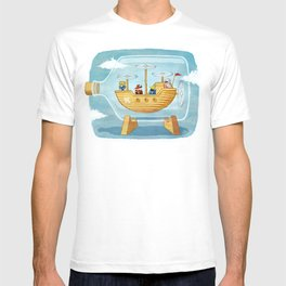 AIRSHIP IN A BOTTLE T-shirt