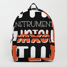 Saxophone Player Gift Intelligent People Backpack