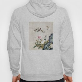 Butterflies and flowers : Minhwa-Korean traditional/folk art Hoody