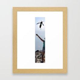 Something in the sky Framed Art Print