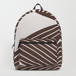Minimal Tropical Leaf - Earth Brown Backpack