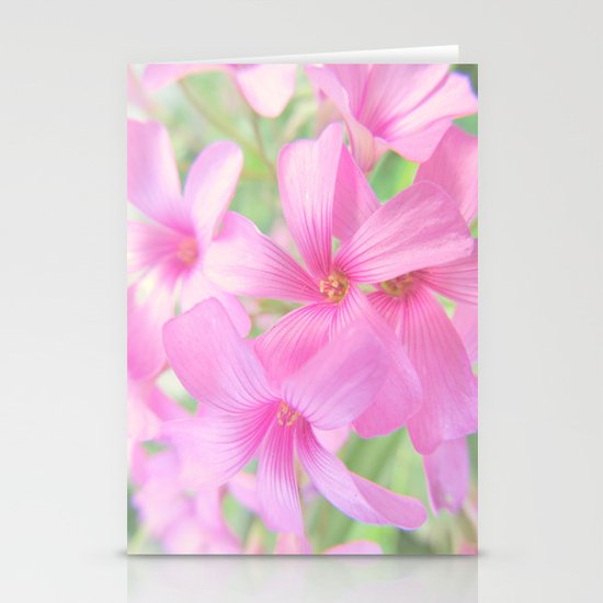 Coral Pink Petals Stationery Cards