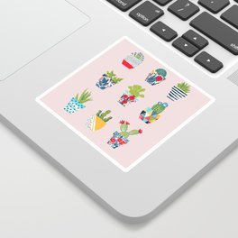 Funny cacti illustration Sticker