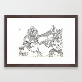 Beast Vs. Monster Framed Art Print
