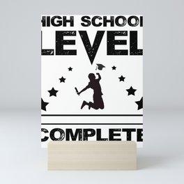 Gamer High School Graduate Graduation Mini Art Print