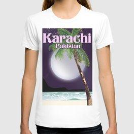 Karachi Pakistan beach poster. T-shirt